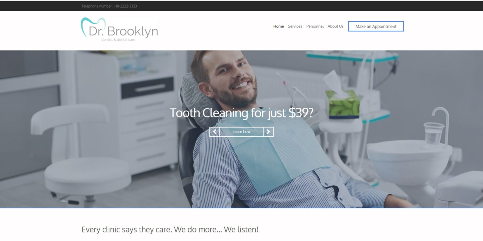 Turnkey Dental Website (Basic)