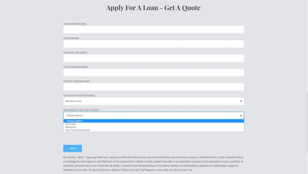 Conditional Application Form